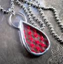rePRODUCE Red Drop Necklace by Muse Glass