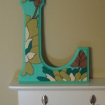 Handpainted Wooden Letter L by Kailey Hawthorn
