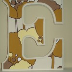 Handpainted Wooden Letter E by Kailey Hawthorn