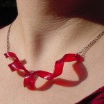 Tresijas Red Twist Recycled LP Necklace
