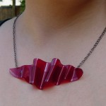 Tresijas Red Wave Recycled LP Necklace