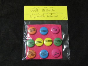 THE ROOM crowd participation & quotation button set