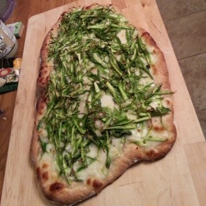 La De Blog - Shaved Asparagus Pizza