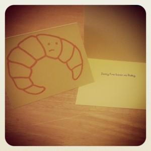 La De Blog - Flaky Croissant Card