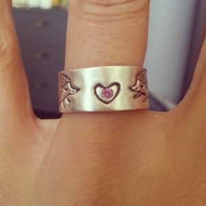 La De Blog - Custom wedding band by boygirlparty & chocolateandsteel