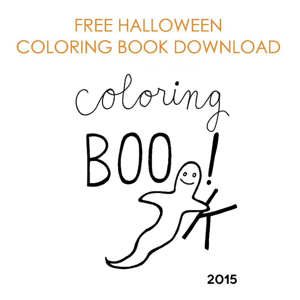Free Halloween Coloring Book Download – Coloring Boo 2015 |